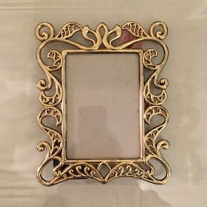 Antique looking metal photo frame